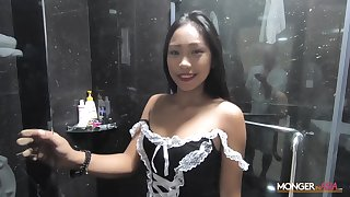 Sexy Filipina Irish colleen shows striptease in the shower