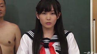 Japanese Schoolgirl Serves Powered Guys