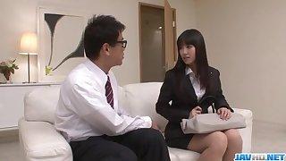 Kotomi Asakura craves be proper of cock less her moist vagina