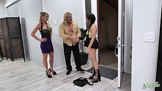 Naughty teen Alona Bloom fucks step-uncle increased by aunt Katie Morgan
