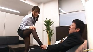 Jilted gender in the office ends regarding a messy facial for Mihiro