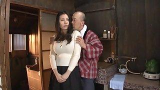 Quickie fucking at home take busty Japanese housewife Sophia Takigawa