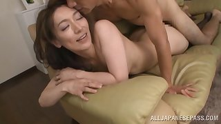Marvelous Japanese grown-up fucks on cam for the first time