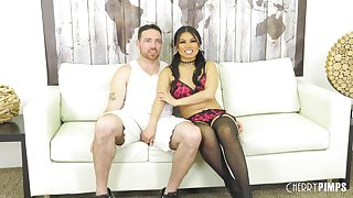 Fucking Cindy Starfall on the couch makes him cum faster than ever