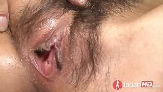 Yummy creampied Asian pussy in closeup clip