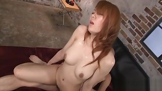 Wet blowjob from busty Japanese