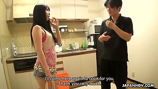 Yummy hottie Miku Oguri shows her creampied Asian hole