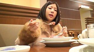 Japanese cutie Nana Hasegawa kissing and sleeping with her boy
