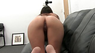 Asian hottie Emma enjoys having her pussy wrecked on the desk