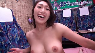 She's a beautiful brunette from Japan and she wants to ride the dick!