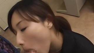 Japanese office slut fucked hard form behind