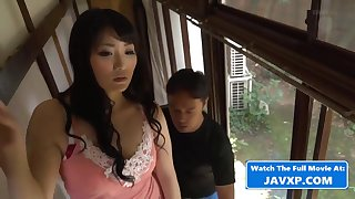 Asian Mommy With Moisture Repairman - mommy